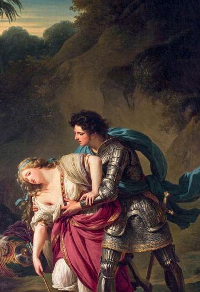 François André VINCENT (Paris 1746 - 1816) Renaud et Armide Toile. Porte en bas à...