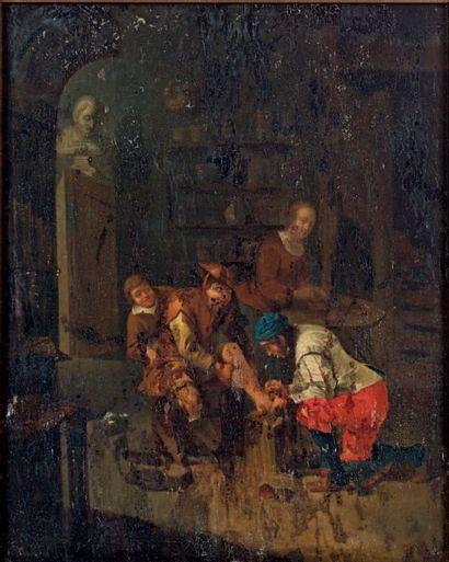 École HOLLANDAISE du XVIIe siècle, suiveur de Caspar NETSCHER