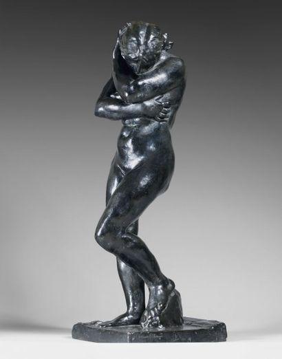 Auguste RODIN (1840-1917) Petite Ève Petit modèle avec base carrée, conçu en 1883,...