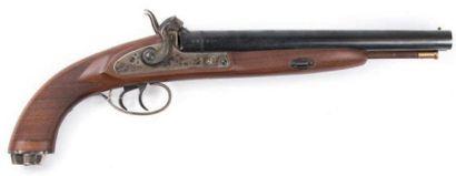 Gros pistolet à percussion et à double canon...