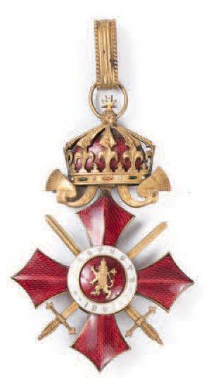 Royaume de Bulgarie. Étoile de commandeur...