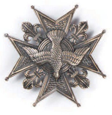Plaque de l'Ordre du Saint Esprit en argent...