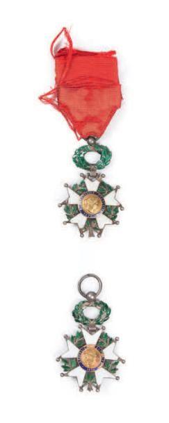 Lot de deux légion d'honneur chevalier 3e...