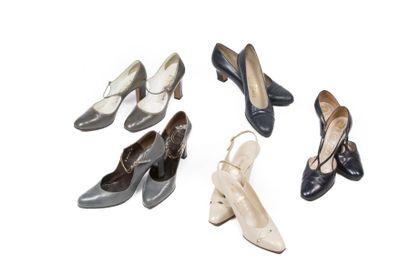 LOT de Cinq paires de souliers: Christian...