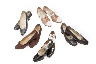 LOT de Cinq paires de souliers: MANCINI,...