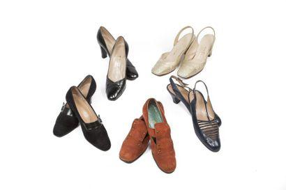 LOT de Cinq paires de souliers: CAPOBIANCO,...