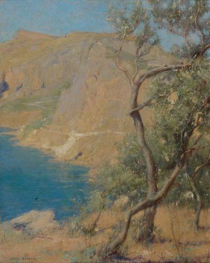Jacques BOUYSSOU (1926-1997) Port de Camaret Huile sur toile, signée en bas à droite....