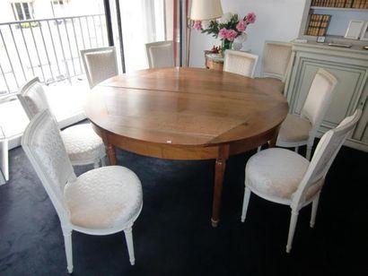 Grande table demi lune Diam ouvert : 159...