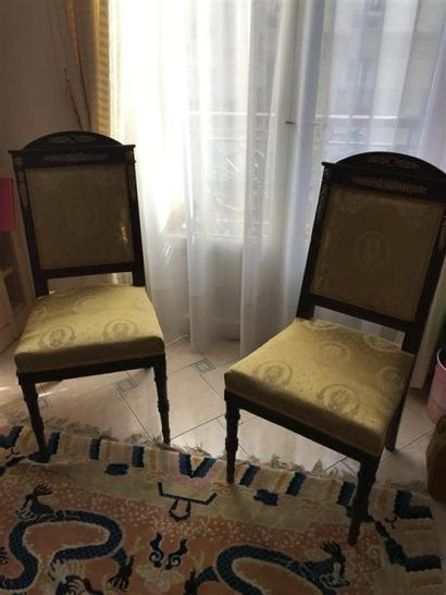 Paire de chaises en acajou Style restauration