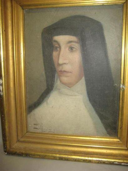 DELLEPIANE (1866 -1932) Portrait de soeur...