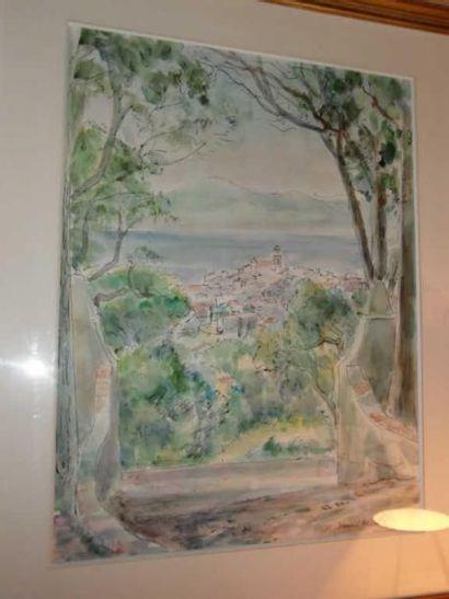 Vincent BRETON (1919) St Tropez Aquarelle...
