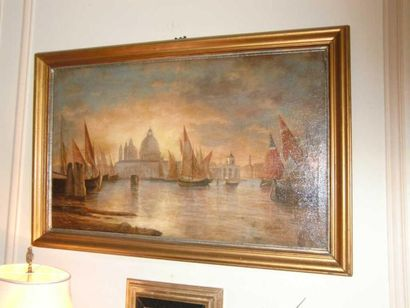 Ecole XXème Venise (?) Huile sur toile H....