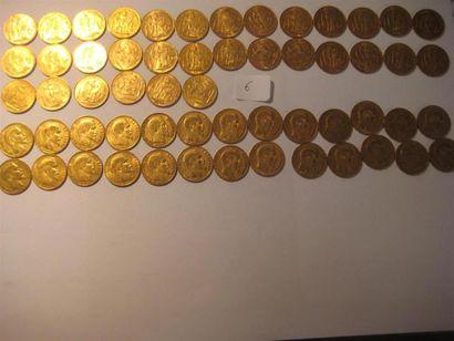 FRANCE 20 Francs or, Génie, 1848, 1875, 1876(4),...