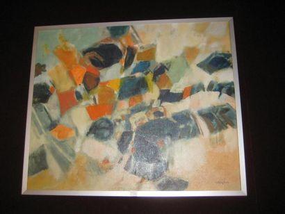 Noel PASQUIER né en 1941 Composition abstraite....