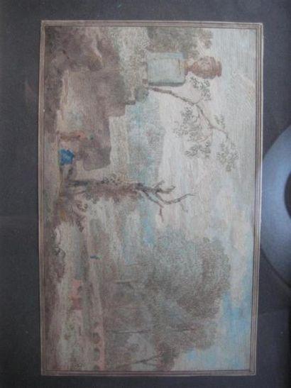 Ecole Flamande du XVIIIème siècle Paysage...