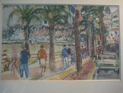 Pierre GAILLARDOT (1910-2002) La croisette...