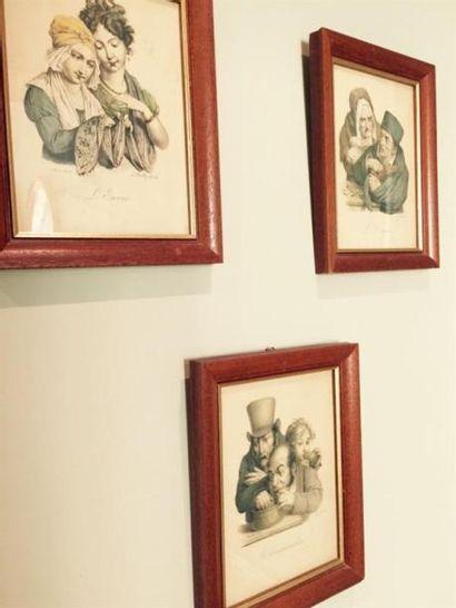 Série de 7 petites reproductions