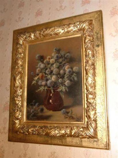 Jules LAURENS (1825-1901) Bouquet de chardons...
