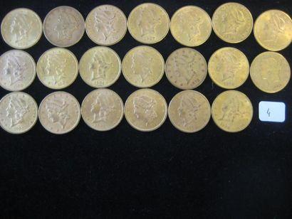 USA 20 Dollars Liberty, 1873, 1878, 1892,...