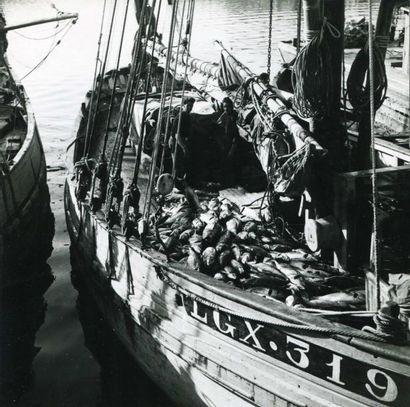 Concarneau, thonier de Groix vers 1950. Tirage...