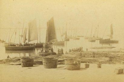 J.VILLARD . Le Guilvinec, vers 1875. Tirage...