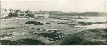 Saint-Malo, vue du Grand Bey, vers 1910....
