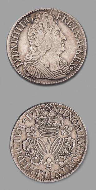 Louis XIV (1643-1715) Écu aux trois couronnes....