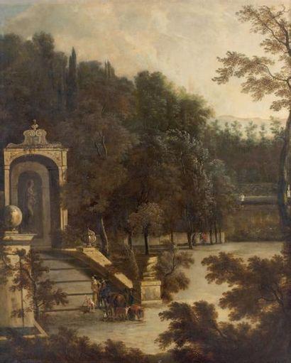 Ecole HOLLANDAISE du XVIIIe siècle, suiveur d'Isaac de MOUCHERON