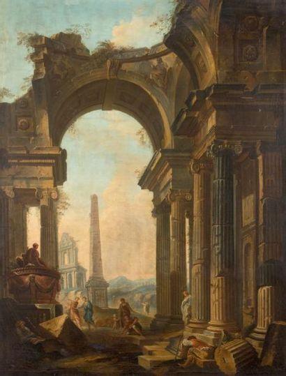 École ITALIENNE du XVIIIe siècle, atelier de Giovanni Paolo PANINI