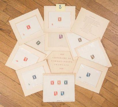 Epreuves de Luxe (5) Bel ensemble 830/833...