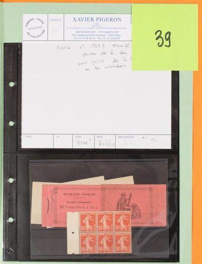 France Carnet 138f Type II (papier normal)...