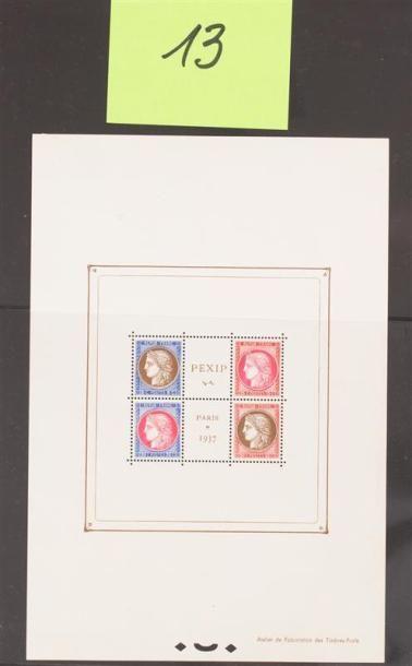Bloc 3 */** Feuillet Pexip les 4 timbres...