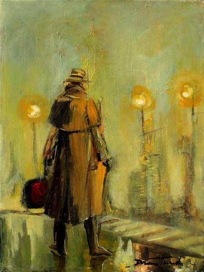 Damian TIRADO (1960) L'homme à la valise...