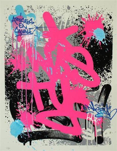 NASTY Artistes en cavale Lithographie numérotée...