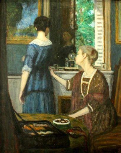 Eugène Antoine DURENNE (1860-1944) La robe...
