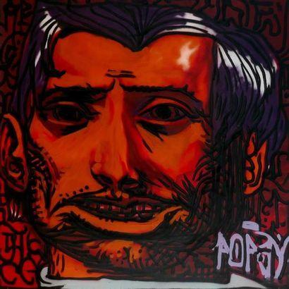 POPAY Sans titre, 2011 Aérosol sur toile,...