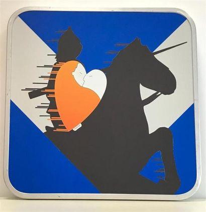 HEARTCRAFT Knight Love Sticker sur acier...