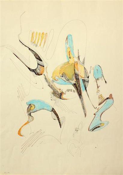 Mahjoubi AHERDAN (1924) Sans titre, 1984...