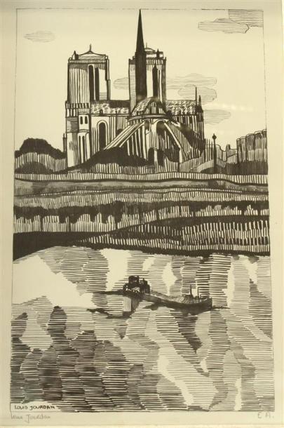 Louis JOURDAN (1872-1948) Notre-Dame de Paris...