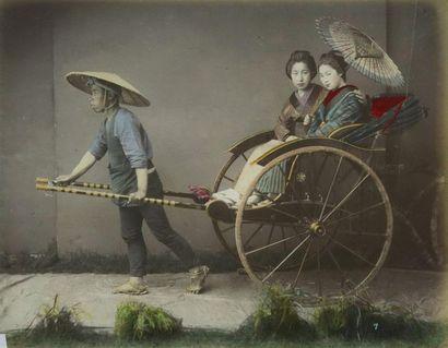 Photographe non identifié. Japon, pousse-pousse,...