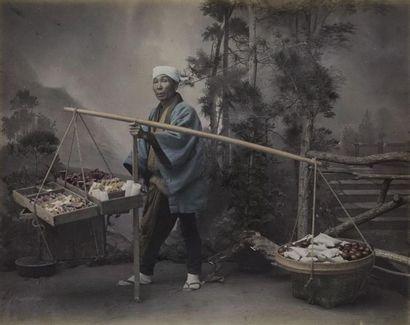 Photographe non identifié. Japon, un marchand...