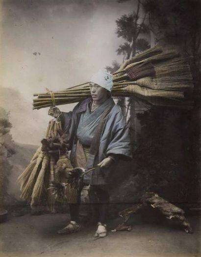 Photographe non identifié. Japon, le vendeur...