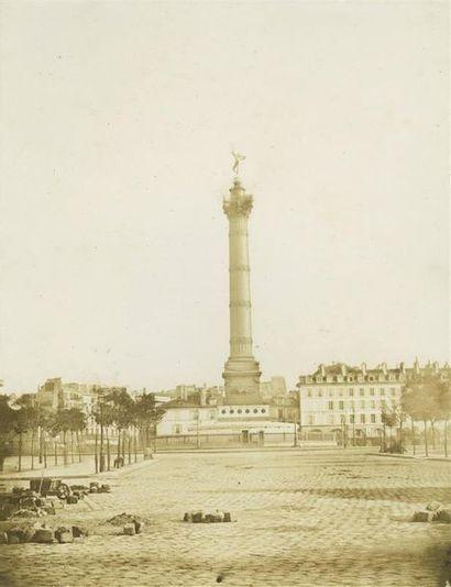 Colonne de Juillet, Paris, 1852. Tirage salé...