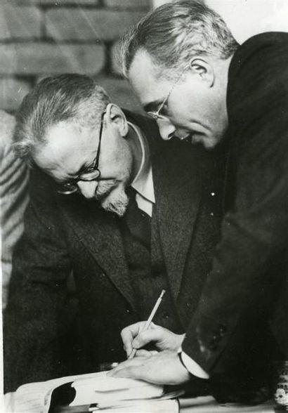 Trotsky et son avocat Albert Goldman, Mexique,...