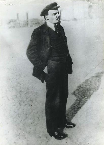 Piotr OTSOUP (1883-1963). Portrait de Lénine,...
