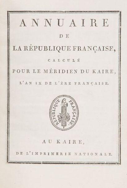 ANNUAIRE DE LA RÉPUBLIQUE FRANCAISE, calculé...