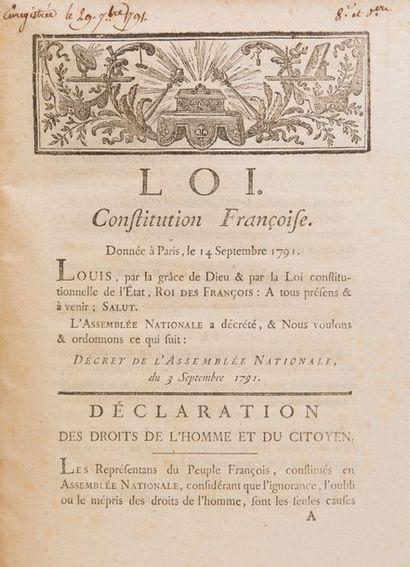 [CONSTITUTION]. LOI. CONSTITUTION FRANCOISE....