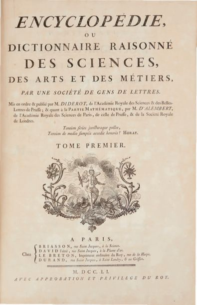 Denis DIDEROT et Jean d'ALEMBERT.