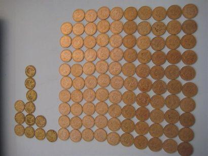 FRANCE 20 francs or, génie, 1876, 1877, 1898...
