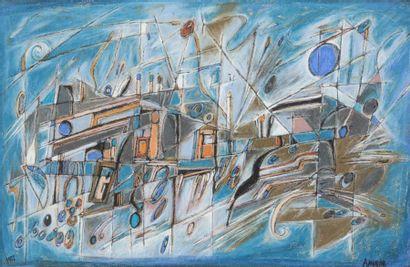 Lot comprenant : - Manuel Amorim (1950)...
